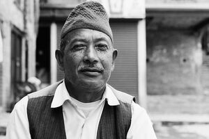 Man wearing traditional cap