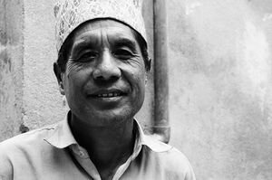 Man wearing Dhaka topi
