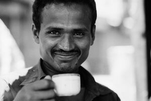 Man drinking tea