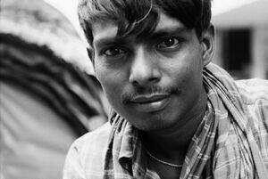Rickshaw man staring at me