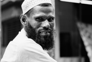 Man wearing Taqiyah adn fine beard