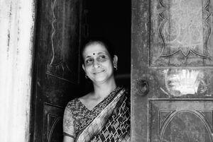 Dainty woman wearing saree