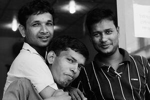 仲のいい三人の男たち