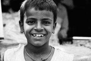 Brimful smile of boy