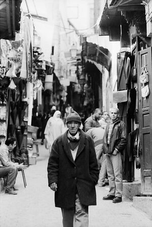 Old man walking Talaa Sghira