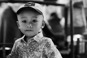 Boy wearing cap