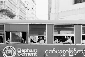 Local bus in Yangon