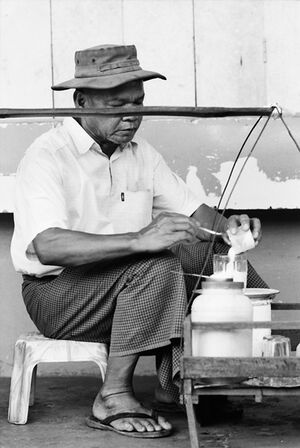 Man peddling sweets