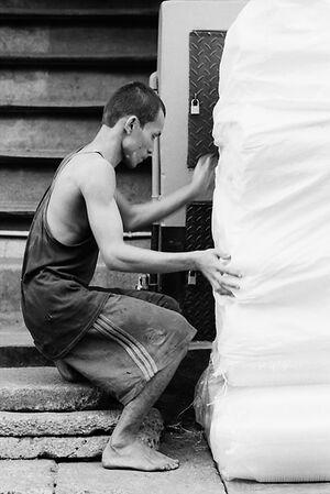 Man carrying burden
