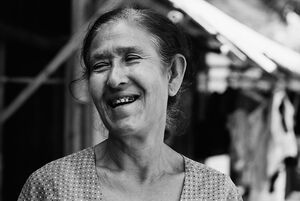 Laugh of older woman