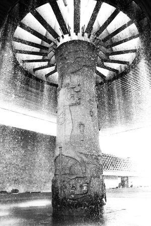 Fountain in Museo Nacional de Antropologia