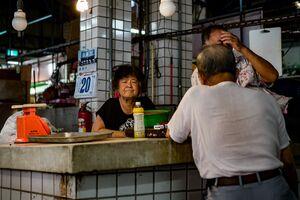 Older woman in market