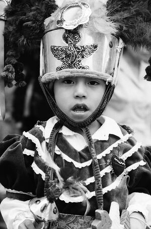 Boy wearing traditional costume