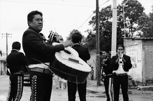 Mariachi playing in street