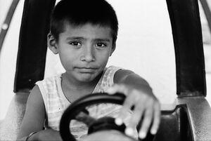 Boy driving