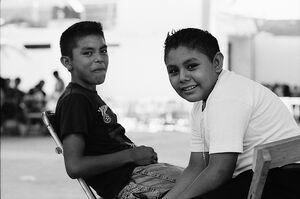 Boys sitting