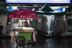 Stall in rain