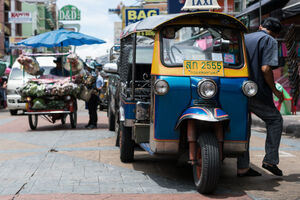 Tuk-tuk in Khaosan Road