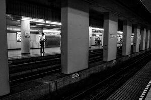 九段下駅のプラットホーム