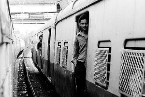 Man standing on platform