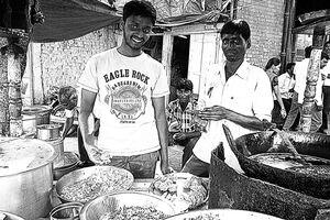 Men selling Samosa