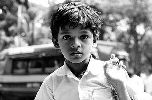 Dazed expression of boy