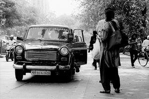 可愛らしいタクシー