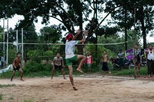 People playing sepak takraw