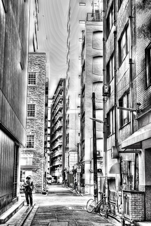 Man standing on street corner