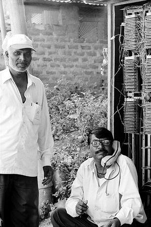 Engineer wearing glasses