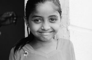 Effusive smile of girl