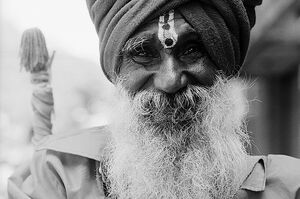 Sadhu smiling