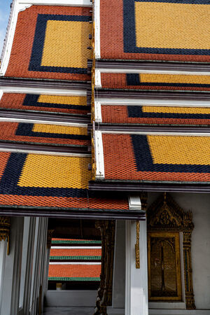 Vivid roof in Wat Phra Kaeo