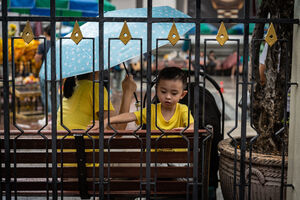 Little boy in Erawan Shrine