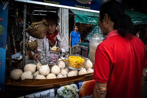 Stall selling sweets in Chatuchak Market