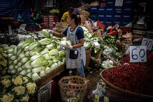 Greengrocery in Khlong Toei Market