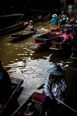 Boats in Damnoen Saduak Floating Market