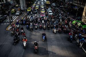 Crossing in Bangkok