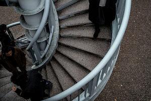 代官山の螺旋階段