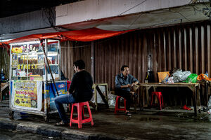 Food stall on Raya Mangga Besar street