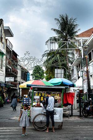 Food stall selling otak-otak in Jakarta