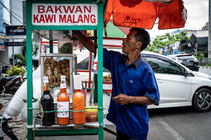 Food stall selling Bakwan