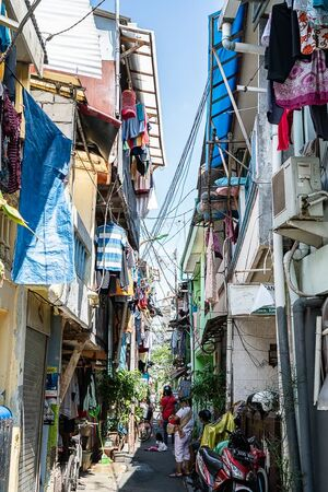 Alley with laundry