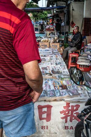 Corner newsstand in Jakarta