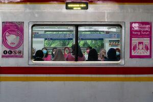 ジャカルタの女性専用車両