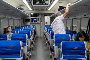Inside of an express train