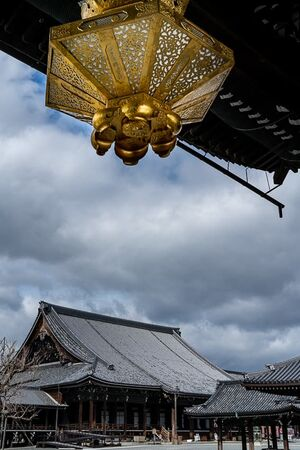 Amida Hall and a golden lantern