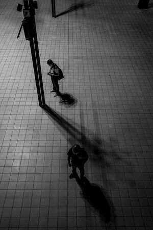 Silhouettes in Bashamichi station
