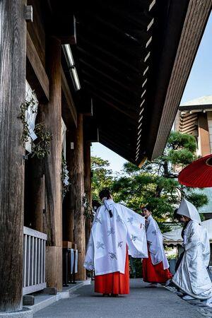 Bride at Iseyama Kotaijingu Shrine