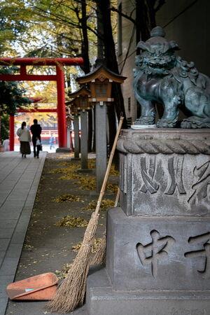花園神社の狛犬